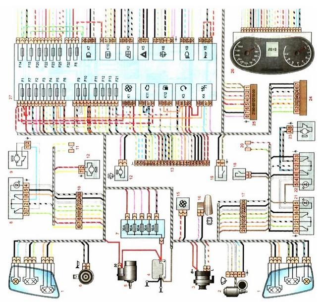 Электросхема кондиционера лада гранта